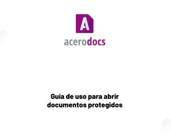 Guia de uso para abrir documentos protegidos